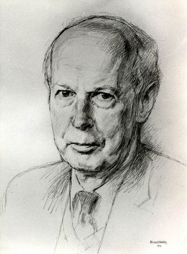 Commissioned portrait paintings and drawings by Michael Noakes with biography, prices for portrait commissions and method of working