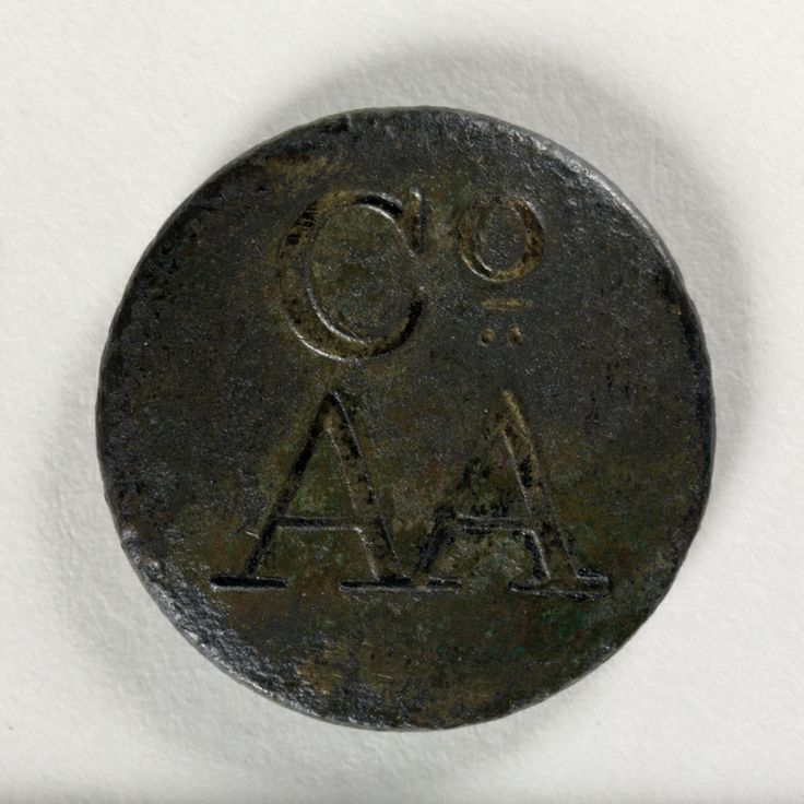 Brass button said to be from the uniform worn by convict servants of Australian Agricultural Company, found in Pit Row, Newcastle, 1922. From the collections of the State Library of New South Wales: http://acmssearch.sl.nsw.gov.au/search/itemDetailPaged.cgi?itemID=404849
