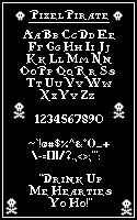 Image for Pixel Pirate font