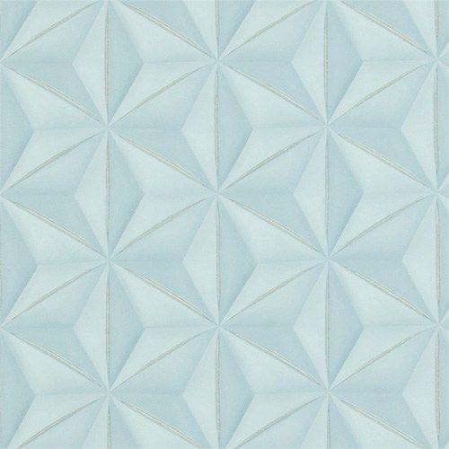 Powder Blue Delusional Geometries Wallpaper R2922