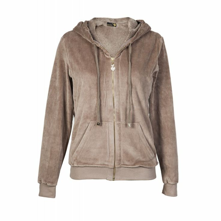 Velour Jacket with Fur Detail