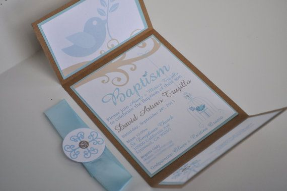 Baptism Invitations by MyCreativeGarden on Etsy, $4.00