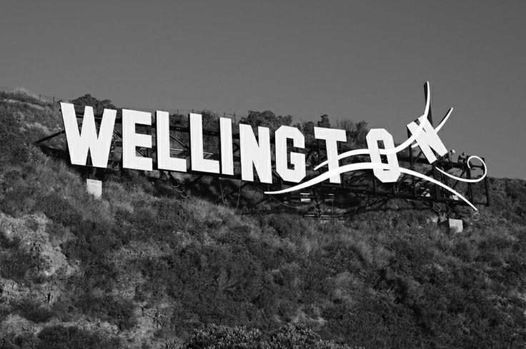 "Wellington ""Blown Away"" sign, Wellington, New Zealand"