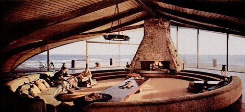 Sunken Living Room , The Wave House: Harry Gesner