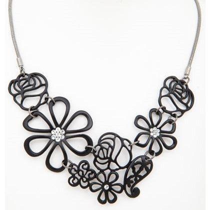 Black Bouquet Necklace