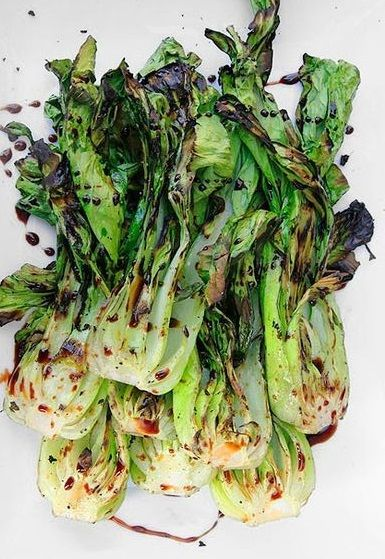 grilled bok choy with sweet soy glaze grilled bok choy with sweet soy ...
