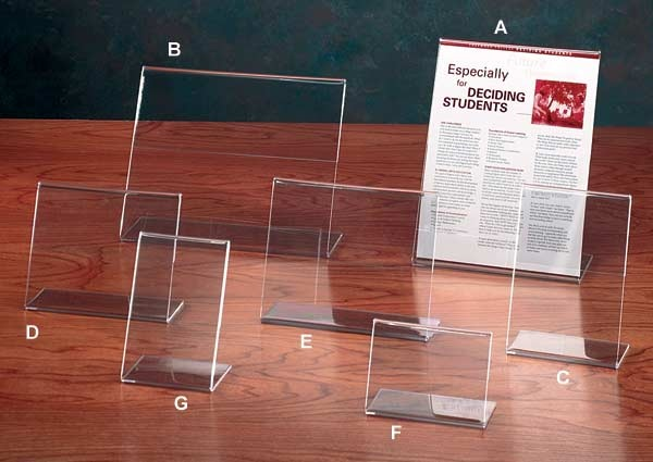 acrylic sign holders in a wide variety of sizes we own these i have
