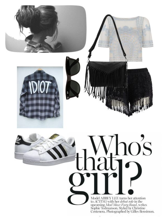 """Untitled #4"" by taniaangell on Polyvore featuring Chicwish, Temperley London, Ray-Ban and adidas Originals"