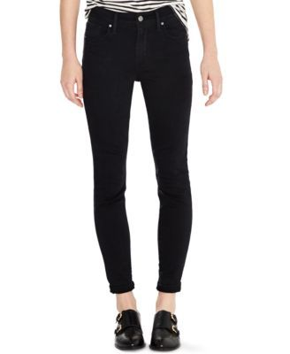 Levi's® 721 High-Rise Skinny Jeans, Soft Black Wash cotton/poly/viscose/elastane sz24 30L 44.99 Sale thru 11/24