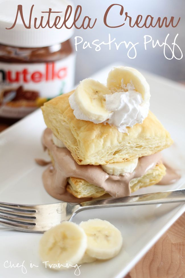Nutella Cream Pastry Puffs!  These are so easy to make!