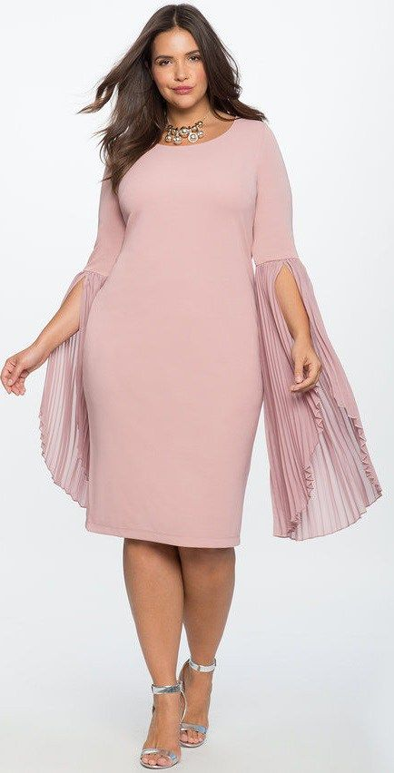 33 Plus Size Wedding Guest Dresses {with Sleeves} - Plus Size Cocktail Dresses - alexawebb.com