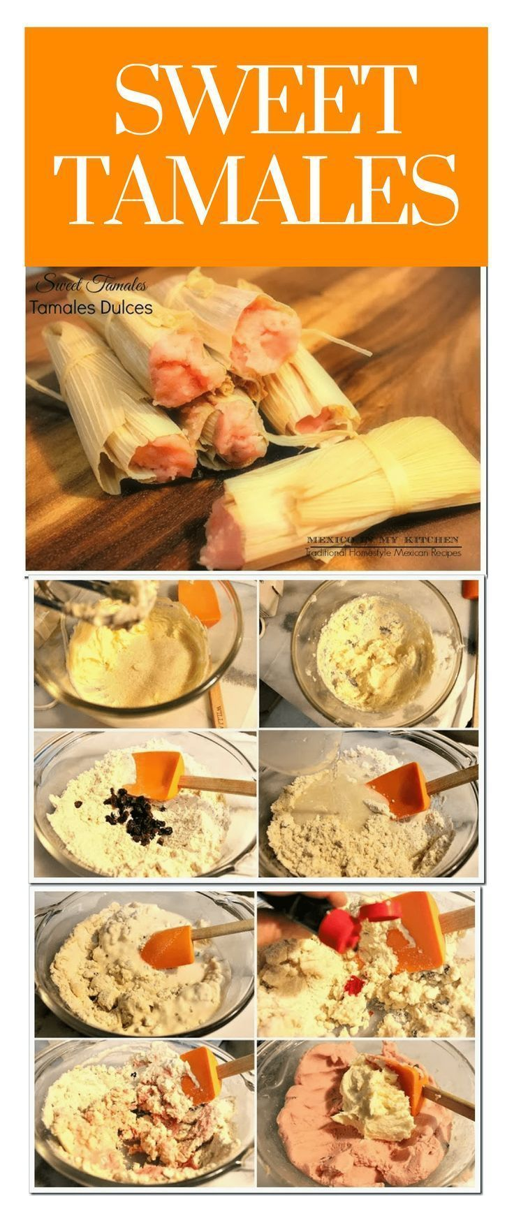 Mexican Sweet Tamales │ (pink sweet tamales) are a meal for celebration, a special treat for parties and birthdays, or ritual times like the Day of the Dead. #mexicanrecipes #mexicanfood #mexicoinmykitchen  #tamal #mexicancuisine