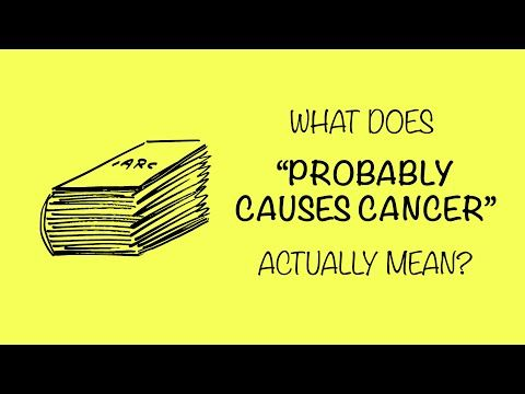 "What does ""Probably Cause Cancer"" actually mean? Grist asked: ""Hey Risk Bites guy, the WHO just said that the herbicide in Roundup probably causes cancer – what's the deal with that? It seems like every month we find out that something else is probably giving us cancer. Should we be worried?"" http://grist.org/science/watch-stick-figures-explain-what-probably-causes-cancer-even-means/ By: Risk Bites."