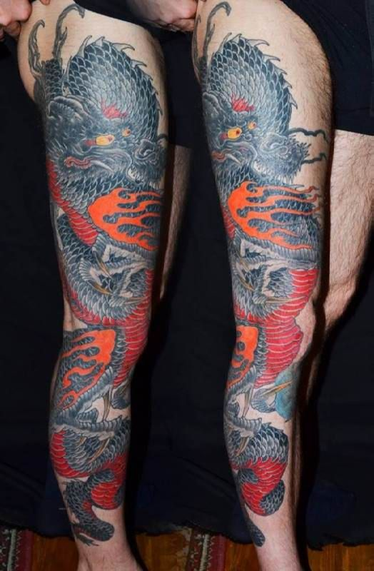 Dragon Tattoo Leg   #Tattoo, #Tattooed, #Tattoos
