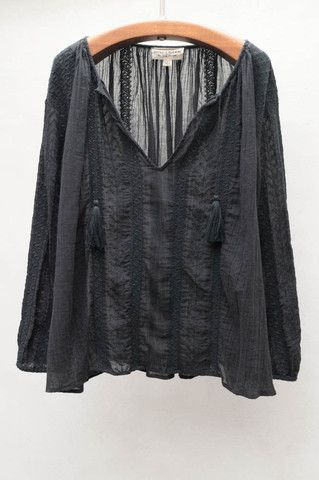 Black Bohemian Blouse