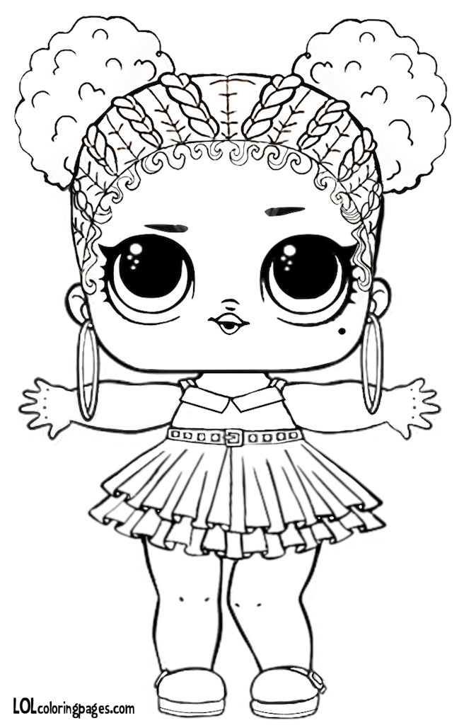 Purple Queen Lol Big Surprise Ball Coloring Page Kiga Pinterest
