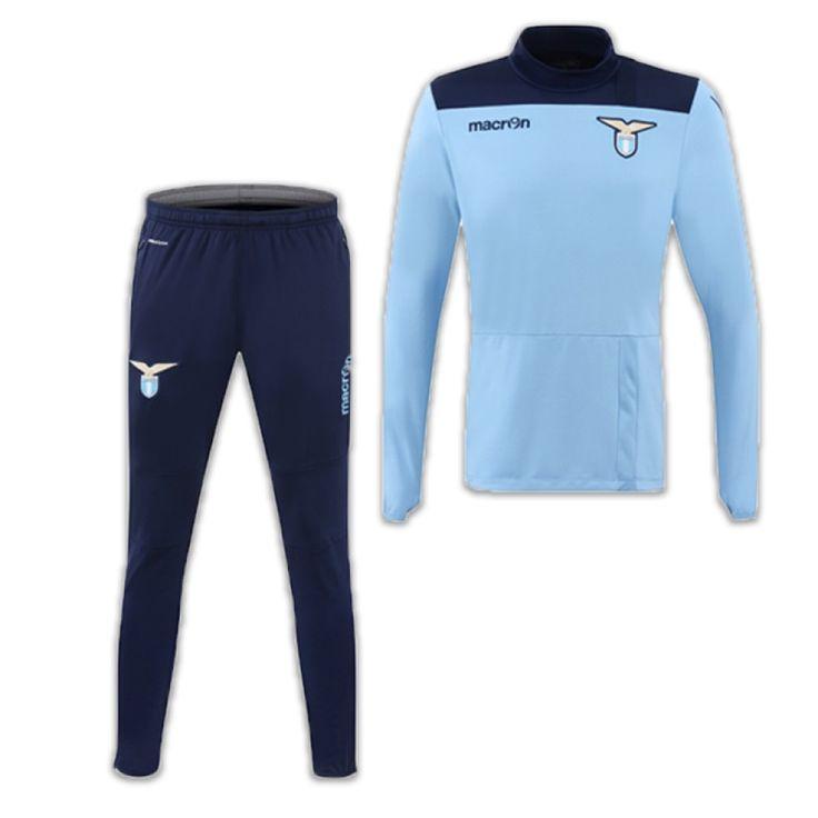 2016-2017 Lazio Macron Half Zip Tracksuit (Blue) #Sport #Football #Rugby #IceHockey