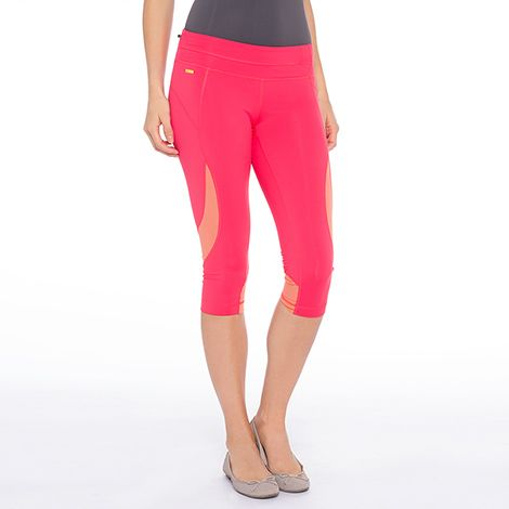 Lolё Bottoms: Run quick-dry capris with mesh at lolewomen.com