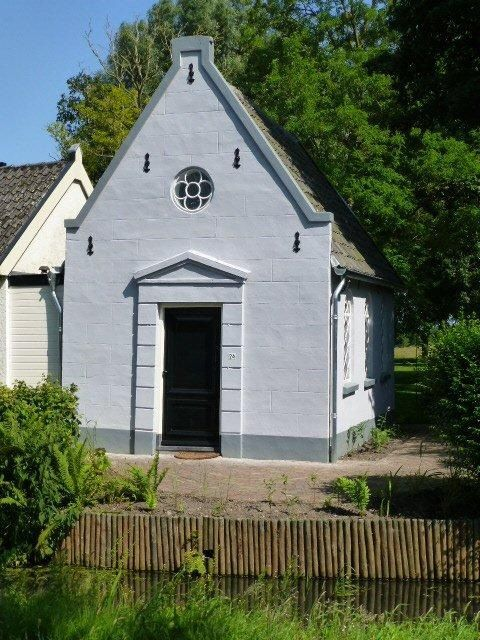 My workshop: allegedly the smallest church in the land, 19th century, recently restored.