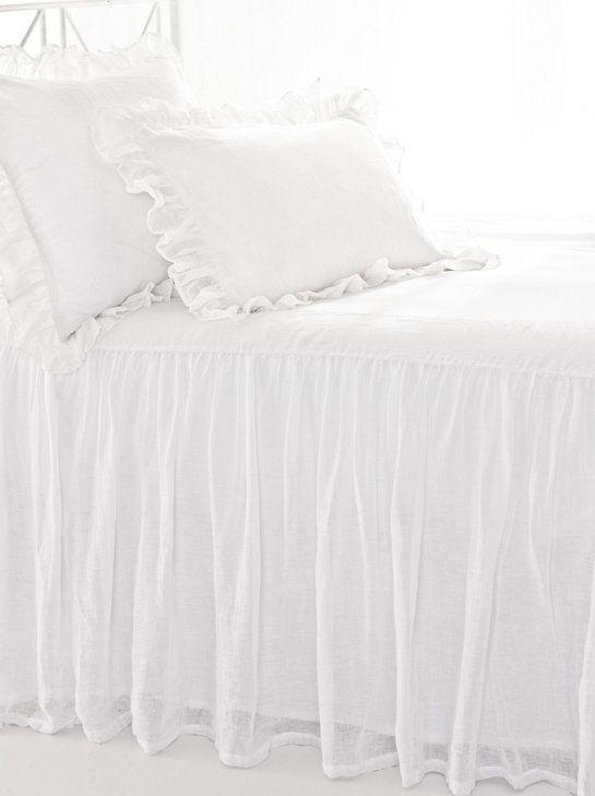 Savannah Linen Gauze White Bedspread