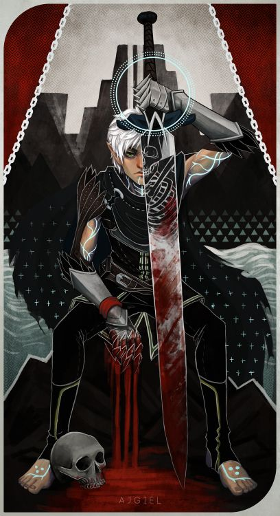 Ajgiel: Fenris Tarot Card Because Why Not. Inspired By