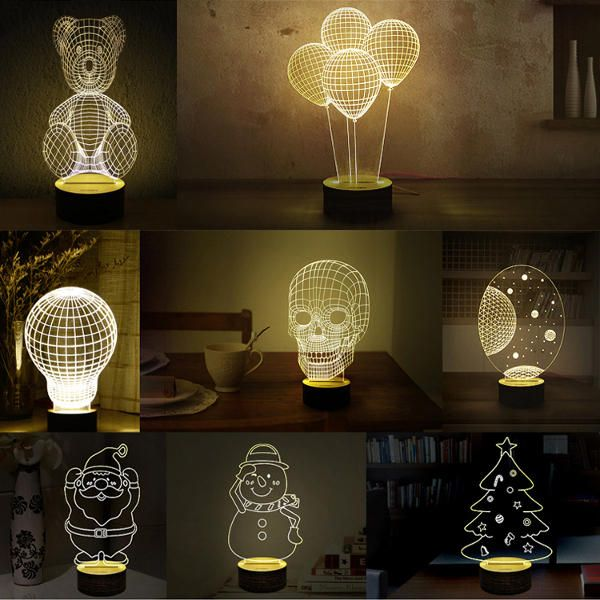 3d Visual Led Small Table Night Light For Holiday