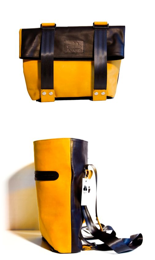 The Pretender 3in1 yellow and black bag by ZagonDesign is a dynamic piece for cyclists. Check it out on www.narvalmarket.com
