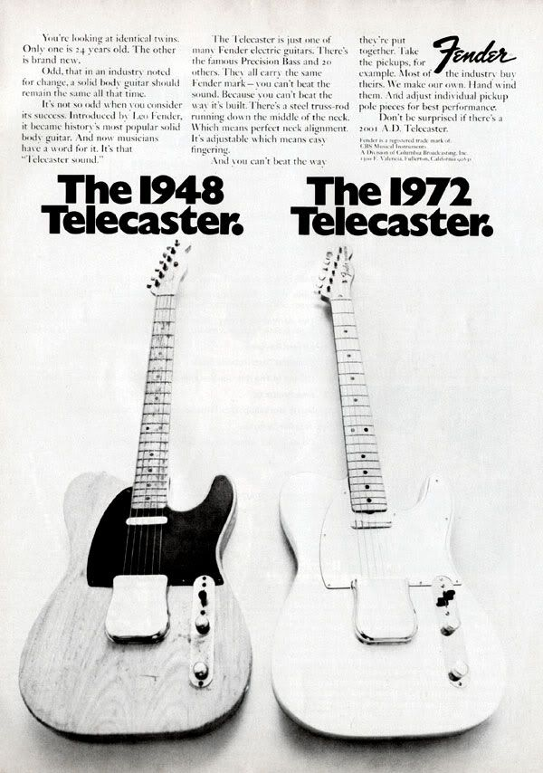 Vintage Tele ad; Interesting content... - Telecaster Guitar Forum love the last line of the copy!