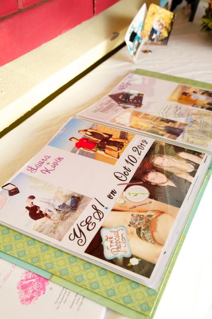 Wedding scrapbook ideas using cricut - Wedding Scrapbook Engagement