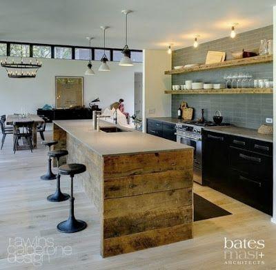 bancone da cucina assi di legno idee di arredo
