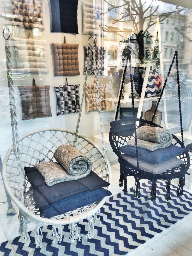 Hanging chairs for the summer house. (hängstol, hängmatta, landet, Åhléns)