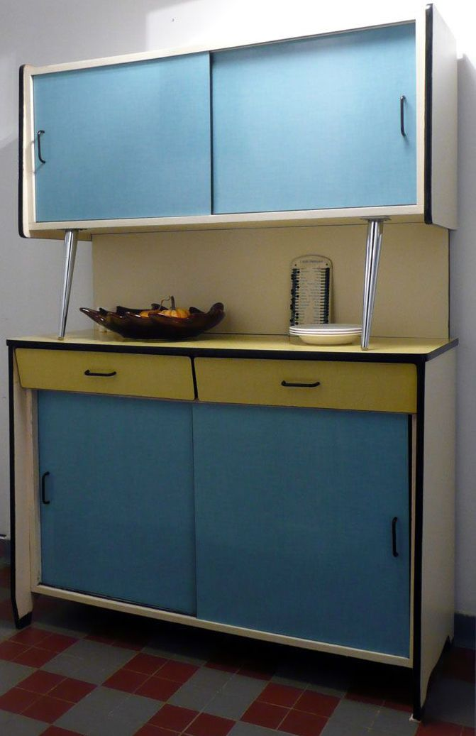 buffet vaisselier formica jaune et bleu ann es 50 60 formica pinterest buffet de f te. Black Bedroom Furniture Sets. Home Design Ideas