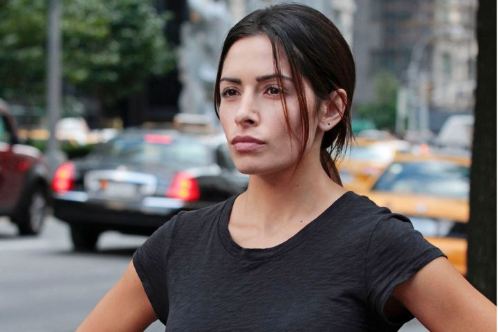 Sarah Shahi - so much more beautiful that way than the wanna-be-sexy-style of fairly legal