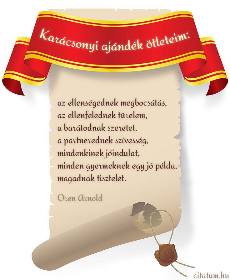 Oren Arnold karácsonyi ajándék ötletei.