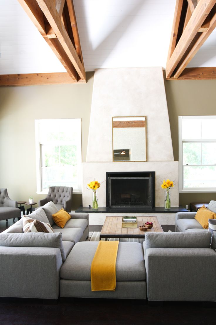Grey And Yellow Living Room Interior Design Pinterest