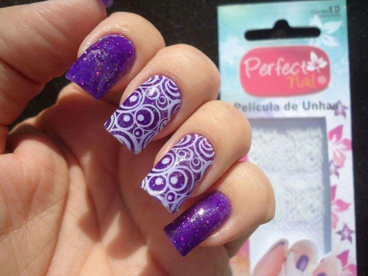 Mejores 26 imágenes de Uñas moradas y lilas en Pinterest | Uñas ...