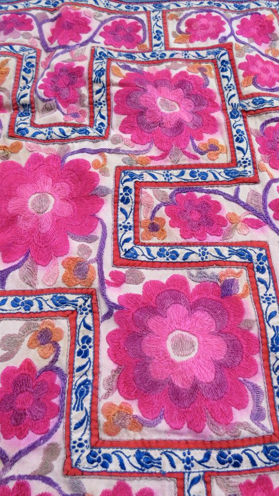 Vintage Hmong Baby Carrier Handmade Tapestry Textiles