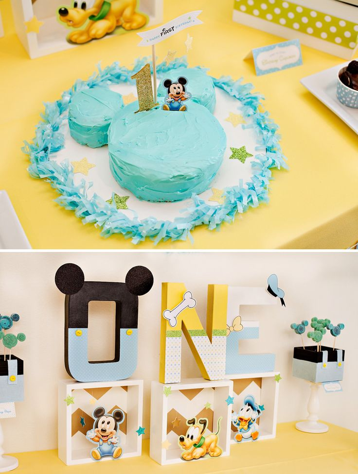 Creative+Mickey+Mouse+1st+Birthday+Party+Ideas+{++Free+Party+Printables}