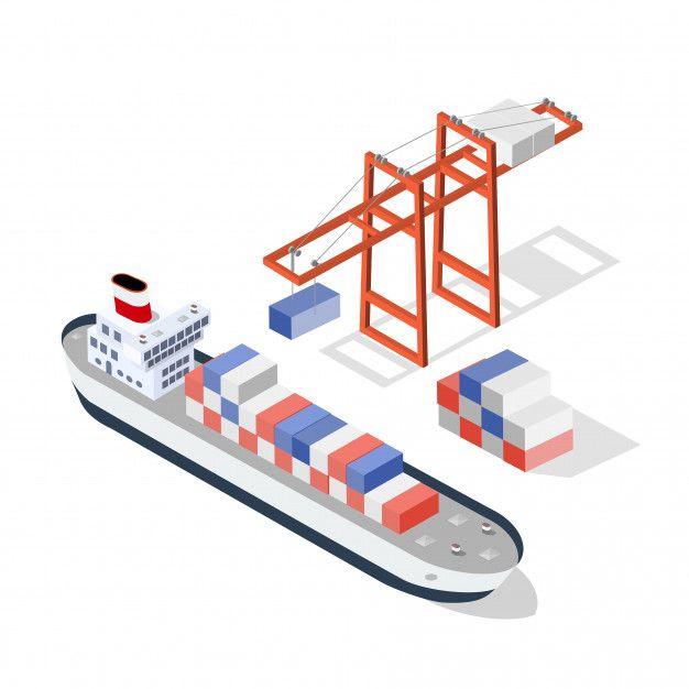 Isometric Ship Cargo Cargo Shipping Cargo Ship Illustration Cargo