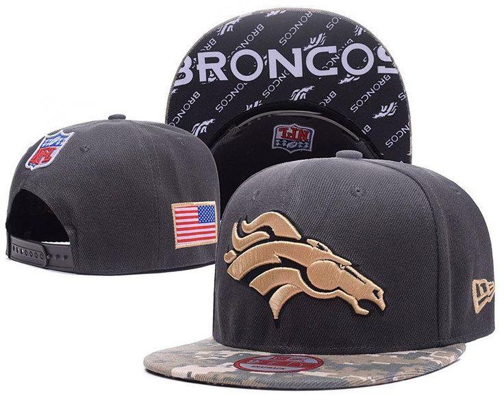 Men's Denver Broncos New Era 9Fifty NFL Sideline Official America Snapback Hat - Black / Digital Camo