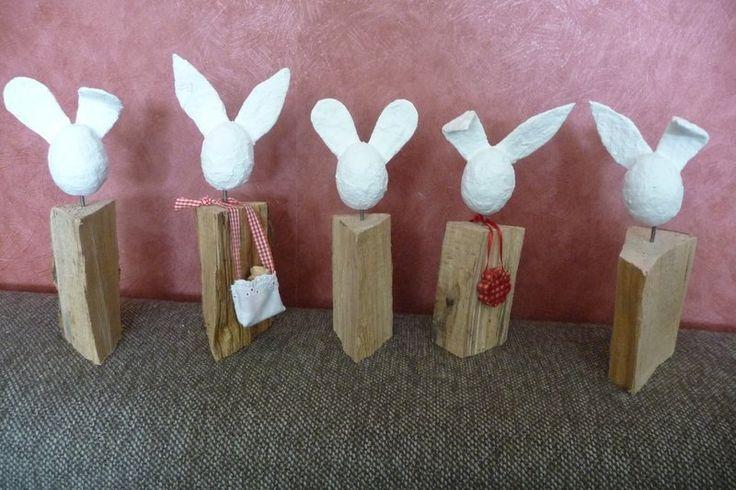Dieser Hase ist eine kleinere Variante - nur halb so groß wie die ursprünglichen Hasen.    Es gibt folgende Varianten:  * Hase mit 2 runden Ohren  ...