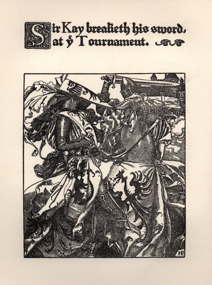 Sir Kay Breaketh His Sword at the Tournament