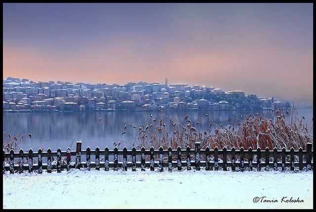 Kastoria with snow...   Flickr - Photo Sharing!