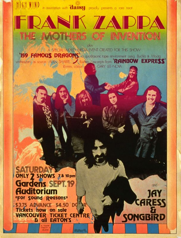 Vancouver Frank Zappa At Gardens Auditorium Moved To Pacific Coliseum On September 19 1970