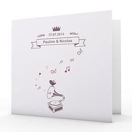 Faire-part Mariage Personnalisés - Douce Musique - 1