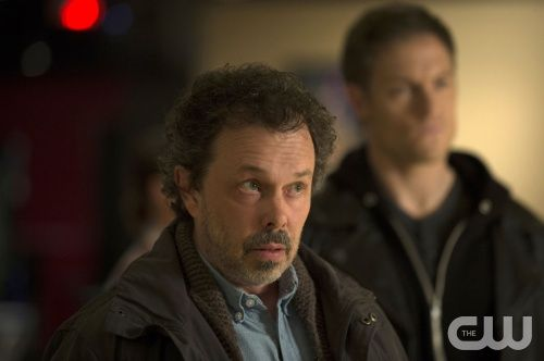 """Supernatural -- """"Stairway To Heaven"""" -- Image SN922b_0322 -- Pictured (L-R): Curtis Armstrong as Metatron and Tahmoh Penikett as Gadreel -- Credit: Cate Cameron/The CW --  © 2014 The CW Network, LLC. All Rights Reserved"""