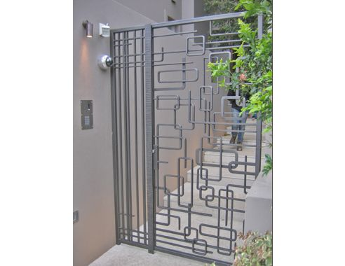 modern rot iron | Wrought Iron Abstract Gates for from Wrought Artworks