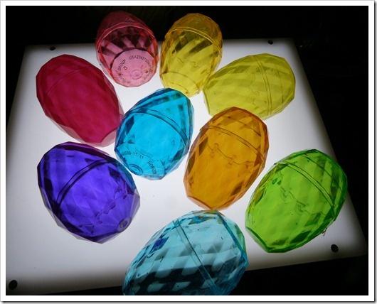 Gem Easter Eggs on the Light Table