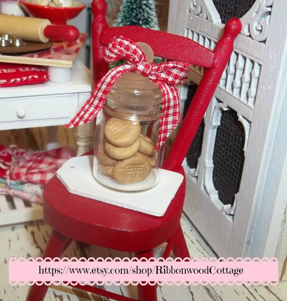 Cookie Jar and Chair with Peanut Butter by RibbonwoodCottage, $31.00