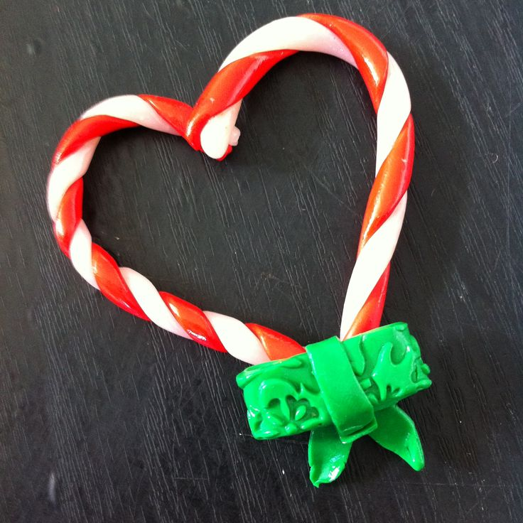 Candy cane ornament I made as a Christmas Present using polymer clay